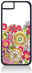 Summer Flowers- Case for the Apple Iphone 5C-Hard Black Plastic Outer Shell with Inner Soft Black Rubber Lining BY RANDLE FRICK by heywan