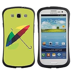 Pulsar iFace Series Tpu silicona Carcasa Funda Case para SAMSUNG Galaxy S3 III / i9300 / i747 , Design Colorful Umbrella