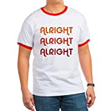 CafePress - Dazed and Confused Movie Gear Alright Alr Ringer T - Ringer T-Shirt, 100% Cotton Ringed T-Shirt, Vintage Shirt