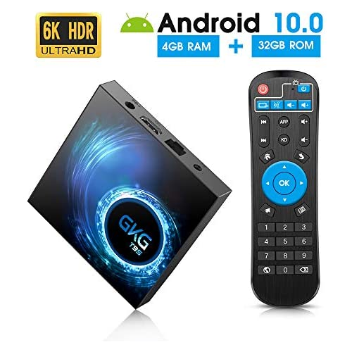 chollos oferta descuentos barato Android TV Box 10 0 GKG T95 TV Box 4GB RAM 32GB ROM Allwinner H616 Quad core 64 bit Soporte 6K 3D WiFi 2 4GHz Android Box 2020 Versión
