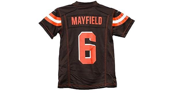 44cfa5a15 BAKER MAYFIELD # 6 Cleveland Browns Jersey YOUTH 18-20 XL NEW NFL L@@K ...