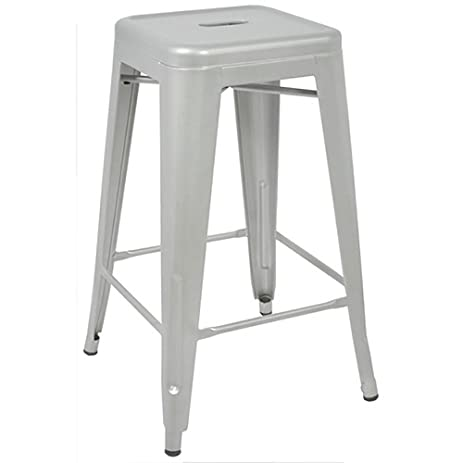 Tabouret 24-inch Metal Counter Stools (Set of 2)  sc 1 st  Amazon.com : metal kitchen stool - islam-shia.org