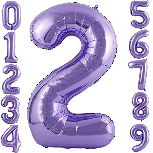 PartyMart Purple Foil Balloons Number 2, 40 inch -
