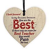 Thank You Teacher Teaching Assistant Gift Wooden Heart Leaving School Nursery Goodbye Present
