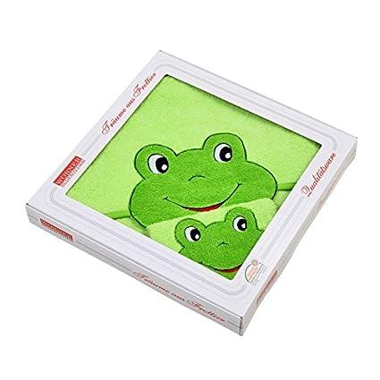 W/ÖRNER Le gant de toilette grenouille gant de toilette b/éb/é vert