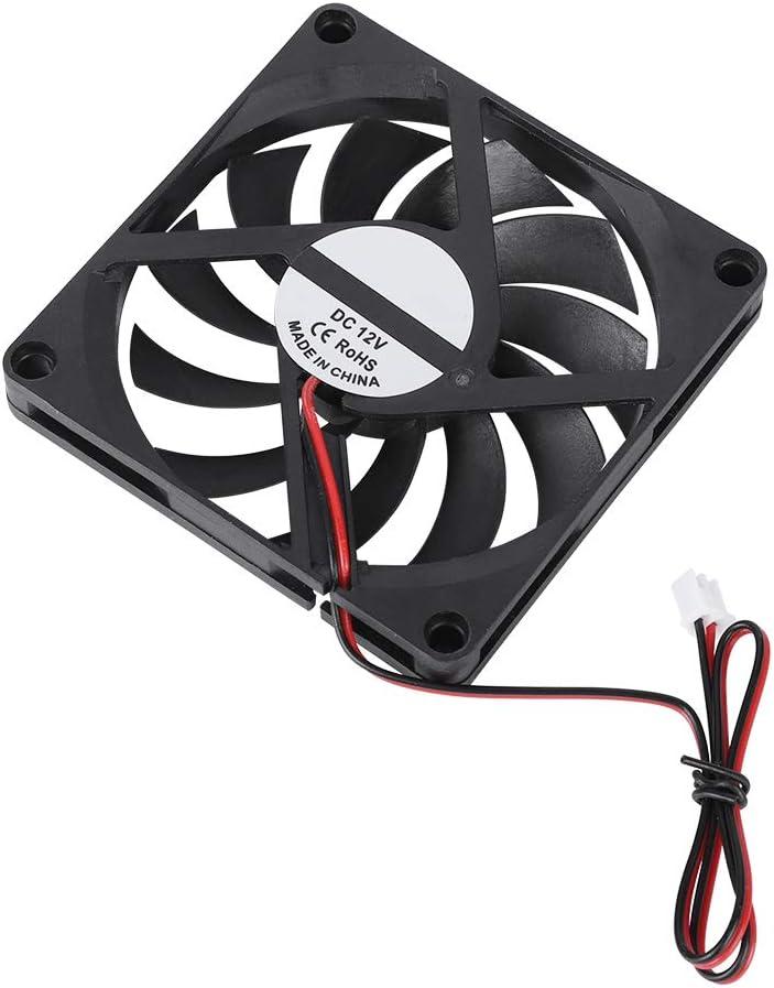 Sorand Cooling Fan 21.46CFM 2PCS 3D Printer Assembly Part High-Speed Cooling Fan 12V 6000RPM Printer Special Cooling Fan Oil Bearing Shaft