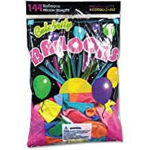 Tablemate Helium-Quality 12 Assorted Latex Balloons, Solid Colors, 144 Balloons/pack