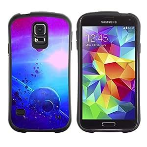 Suave TPU GEL Carcasa Funda Silicona Blando Estuche Caso de protección (para) Samsung Galaxy S5 / CECELL Phone case / / Asteroids Alien Planets Sun Moon Purple /