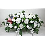 XL-Beautiful-White-Roses-With-Wisteria-Cemetery-Tombstone-Saddle