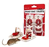 AB Traps Atomic Barbie Pro-Quality 2 Pack EZ-Set Predator Snap Trap Rats Mouse Mice Rodents Squirrels and Similar Sized Pests - Very Effective