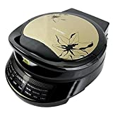 Liven LRT-326A Foldaway non-detachable 180 Degrees  Electric Griddle Skillet, Double Baking Pan Non-stick, 1200W, Gold Black