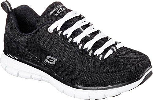 Skechers Synergy Zapatillas Estar Negro Blanco para nbsp;Trend Casa Por Setter de Mujer BawqB1r