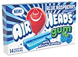 Airheads Candy Sugar-Free Chewing Gum with Xylitol, Blue Raspberry, Non Melting Easter Basket Candy, 14 Stick Pack (Bulk Pack of 12)