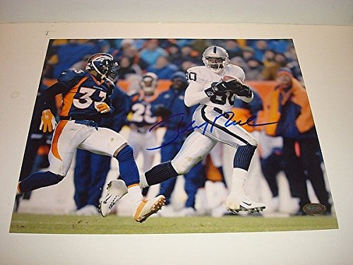 - Jerry Rice Signed Oakland Raiders 8x10 Picturegraph Mounted Memories COA Signed - Authentic Autograph