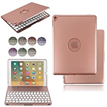 iPad Pro 9.7 Keyboard Case,HuLorry 7 Colors LED Backlit Wireless Bluetooth Keyboard with Protective Case Smart Cover Premium Aluminum Metal Colorful Case for iPad Pro 9.7
