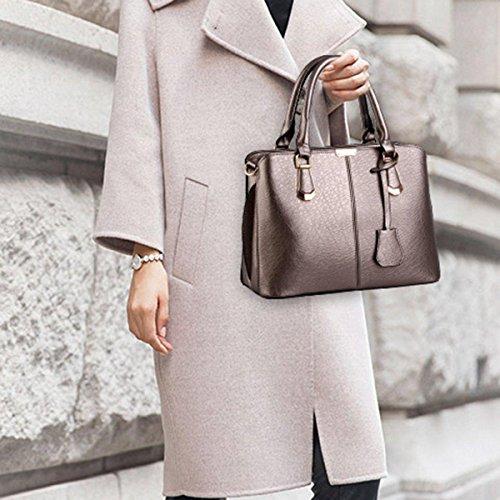 Womens PU Bronze niceEshop Leather Handbag Casual Messenger Shoulder TM Bags 5z5q6rE