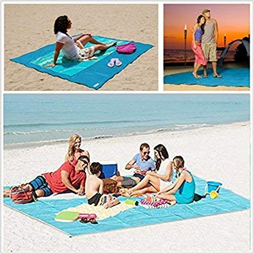 Hello22 Sand Free Beach Mat Blanket Sand Proof Magic Sandless Sand Dirt & Dust Disappear Fast Dry Easy to Clean Waterproof Rug Avoid Sand Dirt and Grass Keep Everything Clean (Pink, 47 x 59inch)