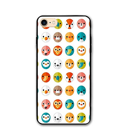 Sea Gull Trio (Haixia IPhone 7/8 Protective Case Cover 4.7 Inch Nursery Various Animals In Logo Style Minimalist Art Design Seal Elephant Bear Fox Seagull Decorative)