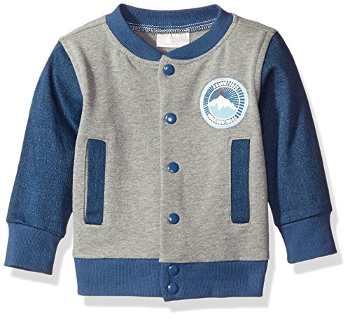 Rosie Pope Little Boys Wolf Pack Varsity Jacket, Dark Denim, 24 Months