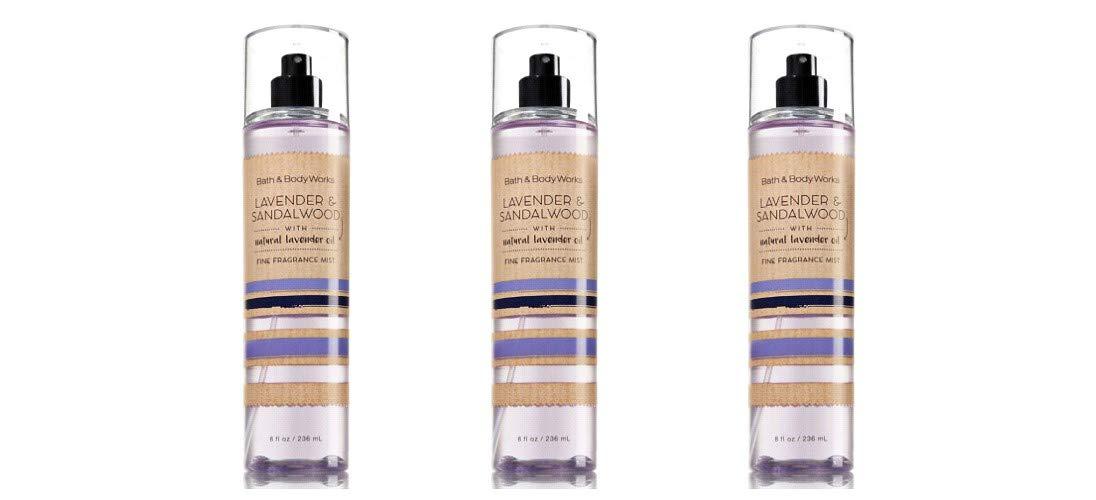 Bath & Body Works Lavender & Sandalwood Fine Fragrance Mist - Lot of 3