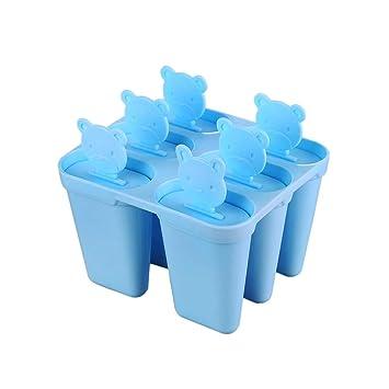 Silicona Eskimo de grado alimenticio helado para niños con recipiente en forma de tapa reutilizable como