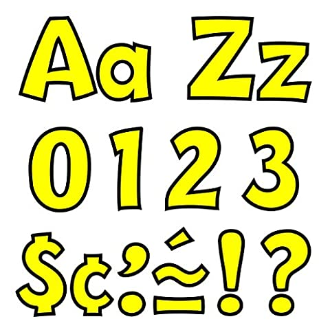Trend T79743 Ready Letters Playful Combo Set, Yellow, 4