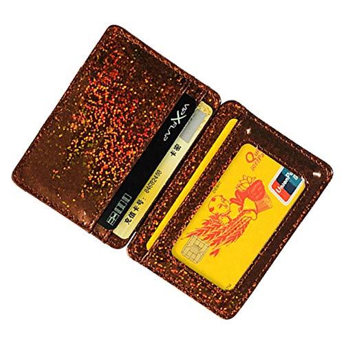 Feiyanfyq Simili Élastique Portefeuille Magique Creative Bande Cuir Carte Paillettes Billets Red Pour Unisexe Hqr6AwHR