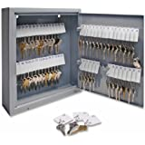 S.P. Richards Company Secure Key Cabinet, 10 x 3 x 12 Inches, 60 Keys, Gray (SPR15602)