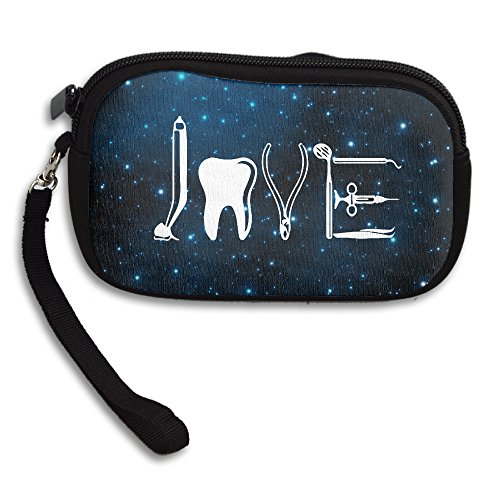 Tigers Zipper Top Handbag (LOVE By Dental Equipments T-shirt Dentist Health Care Coin Purse Wallet Wristlet Pouch Coin Wallet Zipper Change Holder)