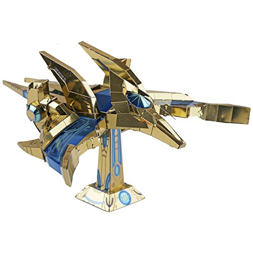 MU 3D Metal Puzzle SC2 Protoss Phoenix Aircraft Model Kits YM-N031 DIY 3D Laser Cut Assemble Jigsaw Toy
