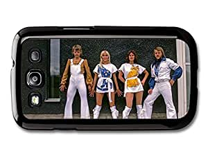 AMAF ? Accessories Abba Wall Portrait Blue and Yellow Cats Agnetha Faltskog case for Samsung Galaxy S3