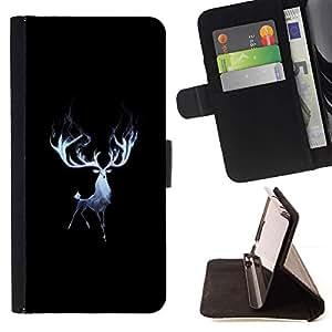 Momo Phone Case / Flip Funda de Cuero Case Cover - Majestic cuernos de los ciervos Elk;;;;;;;; - LG G2 D800