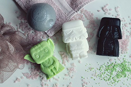 Price comparison product image Star Wars Yoda, Darth Vader, Stormtrooper and Death Star HANDMADE Bar Soap Set (4in1box). 100% natural product with fragrance oil. Original and Unique Bath Supplies. Soap set for Star Wars fans