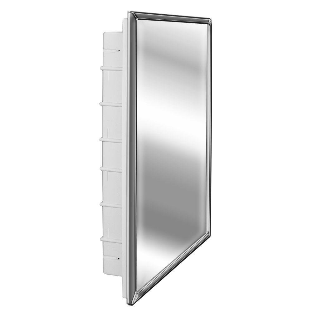 Spacecab 16 in. x 26 in. Recessed Standard Medicine Cabinet in White by Glacier Bay