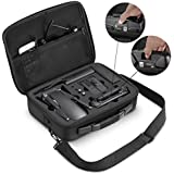 DJI Mavic Air Case, Featch PU Leather Waterproof Portable Travel Backpack Handheld Carrying Case for DJI Mavic Air and All Accessories