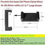 Fantaseal Ergonomic Action Camera Grip Mount Action Cam Handheld Stabilizer Support Camcorder Handle Steadicam Selfie Stick w/ Smartphone Clamp Mount (UP TO 5.7