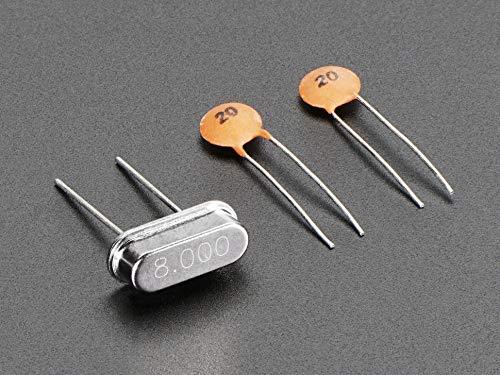 Adafruit 8 MHz Crystal + 20pF capacitors [ADA2213]