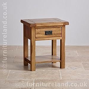 Original Rustic Solid Oak Lamp Table: Amazon.co.uk: Kitchen & Home