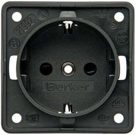 /Berk enchufe Schuko 3 St/ück Steckdose Berker 941852505/