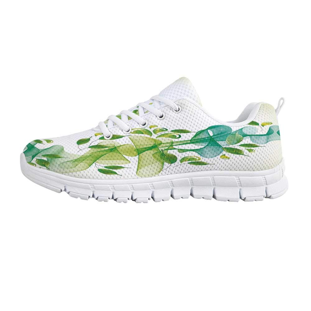 YOLIYANA Abstract Fashion Gym ShoesVivid Waves of Various Sizes in an Expressionist Abstract Artwork Celebration Decorative Sneakers for Girls Womens,US 5