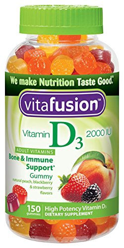 Vitafusion Vitamin D3 Gummy Vitamins, Assorted Flavors, 150 Count (Packaging & Flavors May Vary)