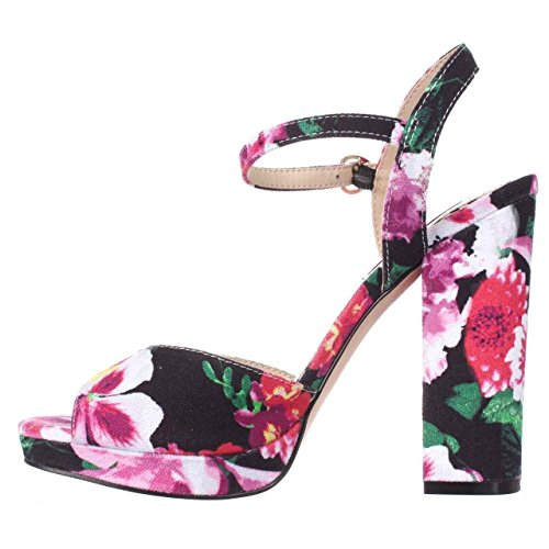 Betsey Johnson Women's Isla Dress Sandal, Black Floral, 8.5 M - Womens Sandals Floral