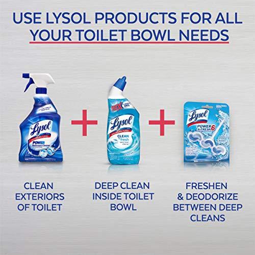 Lysol Power & Fresh Toilet Bowl Cleaner, Ocean Fresh, 24oz Pack of 8 by Lysol (Image #3)