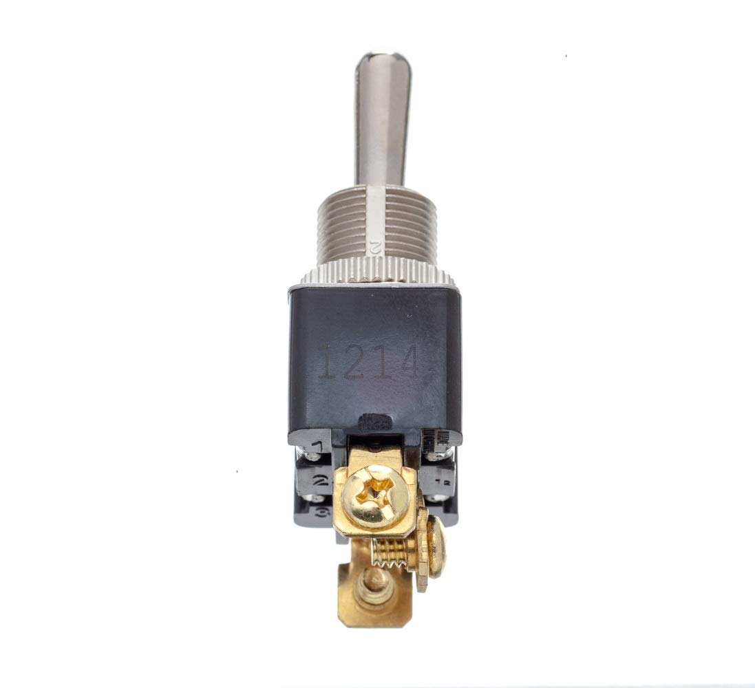 Pack of 1 SCP 12161 SEACHOICE 12161 3-Position Boat Toggle Switch Momentary On//Off//Momentary On