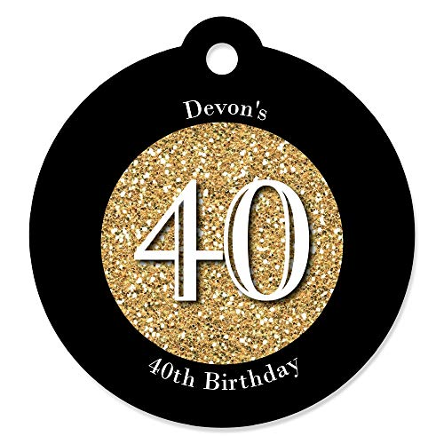 Custom Adult 40th Birthday - Gold - Personalized Birthday Pa