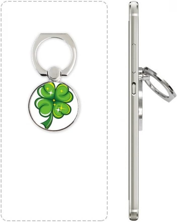 Four Leaf Clover Ireland St.Patricks Day Cell Phone Ring Stand Holder Bracket Universal Smartphones Support Gift