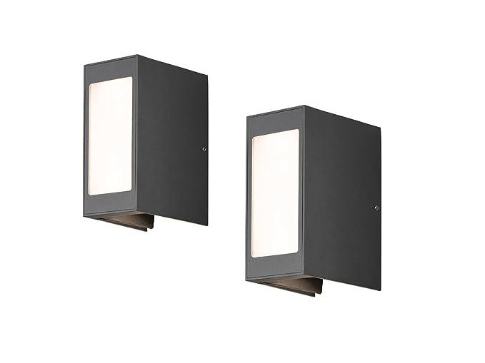 Set lampade led applique da parete cremona antracite fascio di luce