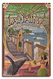 Lahaina, Maui, Hawaii - Town Scenes Montage (10x15 Wood Wall Sign, Wall Decor Ready to Hang)