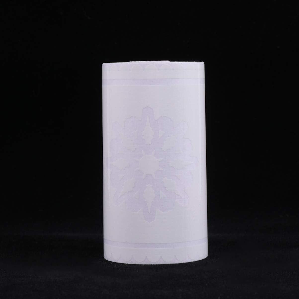 STOBOK Papel Tapiz de Encaje Borde Decorativo Adhesivo Impermeable Copo de Nieve Patr/ón Cintura L/ínea Calcoman/ías de Pared para Espejo Ventana Puerta Decoraci/ón