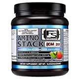Amino Stack BCAA Nutritional Supplement: 60 Servings Amino Acid Fitness Powder With Green Coffee Extract For Recovery And Energy, Metabolism Boost For Muscle Gain And Fat Loss, Kiwi Strawberry Flavor